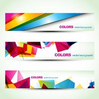 abstrakte Banner-Set-Designs
