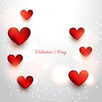 valentine red hearts in attractive background