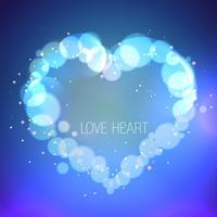illustrazione del cuore in effetto bokeh