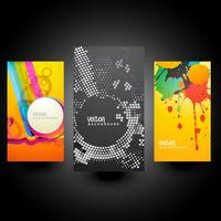 creative abstract cards vector