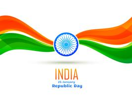 republic day design made in wave style