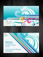 beautiful floral style business card