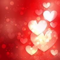 fondo del corazón con efecto bokeh
