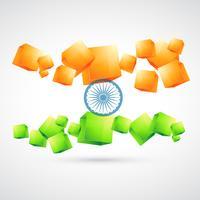 bandera india artística
