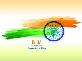 republic day design  made with color strokes