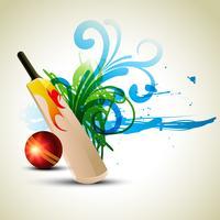fond de cricket de vecteur