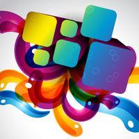 abstrakt stilfull färgstark eps10 design