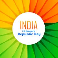 beautiful indian flag design for 26th january