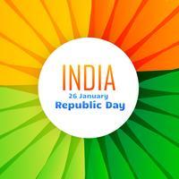 belle conception du drapeau indien pour le 26 janvier