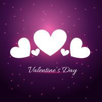 illustrazione del cuore di giorno di San Valentino su sfondo viola