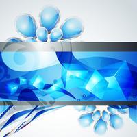 design de fond de couleur bleue élégante