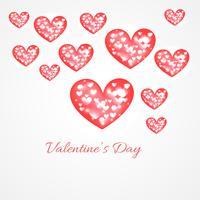 Valentine-dagharten achtergrondillustratie