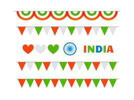 elementen set viering republiek en onafhankelijkheidsdag