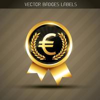 symbole de l'euro vecteur