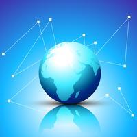 glanzende blauwe vector aarde