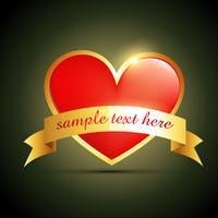 etikett hjärta design