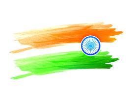 drapeau indien fait avec des traits de couleur