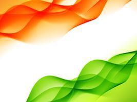 indisches Flaggendesign gemacht im Wellenstil