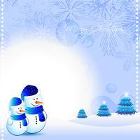 hombre de nieve vector