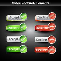 Shniy web knoppen vector