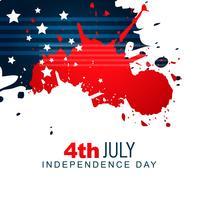 diseño del día de la independencia americana