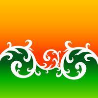 kreativer Blumenarthintergrund, der indische Flagge bildet