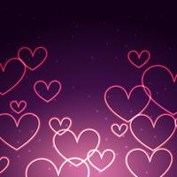 attractive background of hearts vector