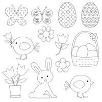 Easter Digital Stamps Clipart
