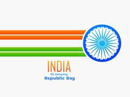 indische republik tag design gemacht mit linie und rad