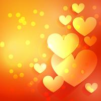 bellissimo sfondo cuore con effetto bokeh