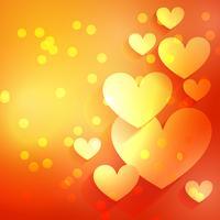 fond de beau coeur avec effet bokeh