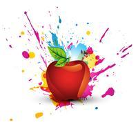 desenho de maçã colorido abstrato