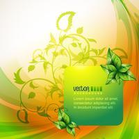 fondo de hoja ecológica vector