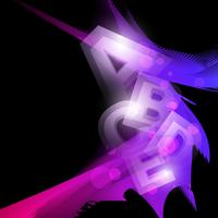 abstrakte glühende Formgrafik