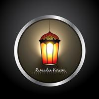 beautiful ramadan kareem lamp label