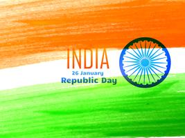 indian republic day flag design made with color strokes