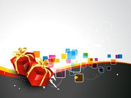 elemento de regalo de vector