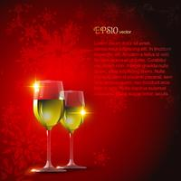 vector wine glass