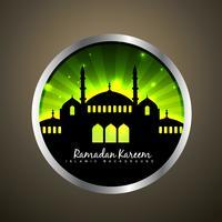 etiqueta islámica vector