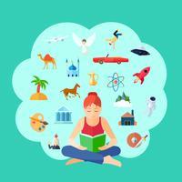 Ilustração do conceito de leitura