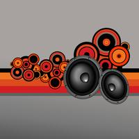retro-stijl muziekontwerp