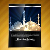 sfondo dell'opuscolo di Ramadan