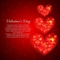 giorno di San Valentino sfondo di cuori bella