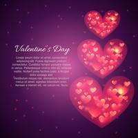 Valentinstag schöne Herzen
