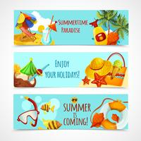 Summer Holidays Banners vector