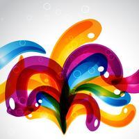 bulles colorées élégantes