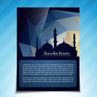 vector plantilla islamica