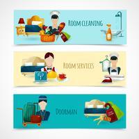 hotell banner set
