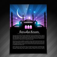 modèle de ramadan brillant