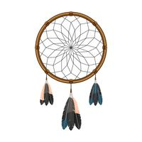 Amerikansk indian dream catcher icon